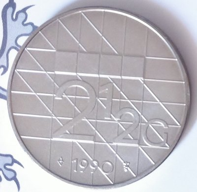 Beatrix 2½ Gulden 1990 FDC
