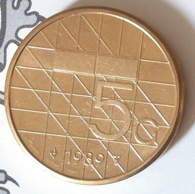 Beatrix 5 Gulden 1989, FDC