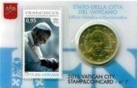 Vaticaanstad 2015 Coincard en Postzegel No 7