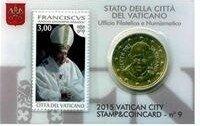 Vaticaanstad 2015 Coincard en Postzegel No 9