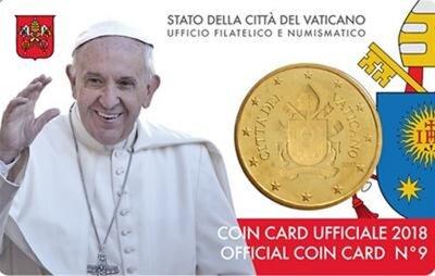 Vaticaanstad 2018 Coincard No 9