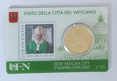 Vaticaanstad 2018 Coincard met postzegel No 20