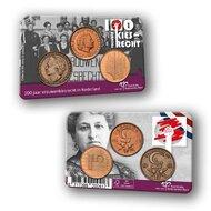 """Nederland Penning 2019 """"100 jaar Vrouwenkiesrecht"""", BU in coincard"""