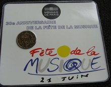 """Frankrijk 2 Euro 2011 """"Fete de la Musique"""", BU in coincard"""