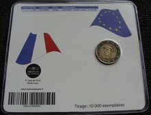 "Frankrijk 2 Euro 2012 ""Abbe Pierre"", BU in coincard"