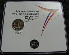 "Frankrijk 2 Euro 2013 ""Elysee Verdrag"", BU in coincard"