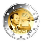 "Luxemburg 2 Euro 2019 ""Kiesrecht"", UNC"