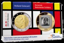 """Nederland 2 Euro 2020 """"Piet Mondriaan"""", BU in coincard"""