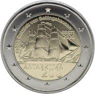 """Estland 2 Euro 2020 """"Ontdekking van Antartica"""", UNC"""