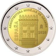 "Spanje 2 Euro 2020 ""Mudéjar Architektuur in Aragón"", UNC"