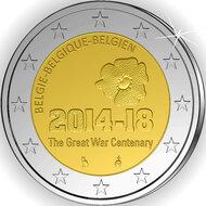 """België 2 Euro 2014 """"Eerste Wereldoorlog"""", UNC"""