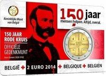 "België 2 Euro 2014 ""150 jaar Rode Kruis"", UNC, Coincard, Nederlands"