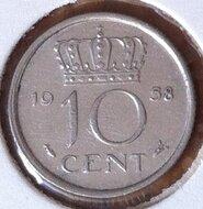 10 Cent 1958, UNC