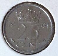 25 Cent 1961, UNC