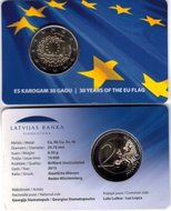 "Letland 2 euro 2015 ""Europese Vlag"", BU in coincard"