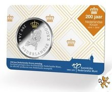 "Willem Alexander penning 2016 ""200 jaar Nederlandse Kroon"" in BU"