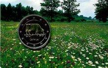 "Letland 2 euro 2016 ""Melkindustrie"", BU in coincard"