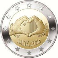 """Malta 2 Euro 2016 """"Liefde"""", UNC, zonder mmt"""