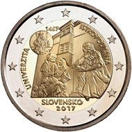 "Slowakije 2 euro 2017 ""Stichting Universiteit Istropolitana"", UNC"