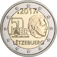 """Luxemburg 2 Euro 2017 """"Vrijwillig leger"""", UNC"""