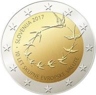 "Slovenië 2 euro 2017 ""10 jaar invoering euro"", UNC"
