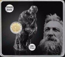 "Frankrijk 2 Euro 2017 ""Auguste Rodin"", BU in coincard"