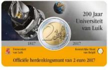 """België 2 Euro 2017 """"Universiteit van Luik"""", BU in coincard Nederlands"""