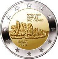 """Malta 2 Euro 2017 """"Hagar Qim"""", UNC"""