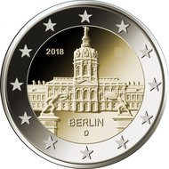 "Duitsland 2 Euro 2018 ""Charlottenburg, Berlijn"", UNC"