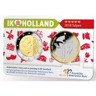 "Nederland Coincard 2018 ""Ik hou van Holland, Tulpen"", BU"