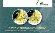"Duitsland 2 Euro 2018 ""Charlottenburg, Berlijn"", UNC in coincard D"