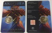 "Andorra 2 Euro 2018 ""25 jaar grondwet"" Bu in blister"