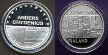 """Finland 10 Euro 2003 """"Anders Chydenius"""", Proof in capsule"""