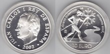 "Spanje 10 euro 2002 ""Olympiade, Proof in capsule"