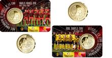"""België 2½ Euro 2018 """"WK Voetbal"""", BU in coincard Waalse"""