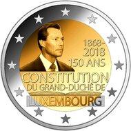 """AANBIEDING: Luxemburg 2 Euro 2018 """"150 jaar grondwet"""", UNC"""