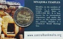 """Malta 2 Euro 2018 """"Mnajdra"""", in coincard"""