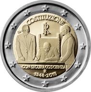 """Italië 2 Euro 2018 """"70 jaar Grondwet"""", UNC"""