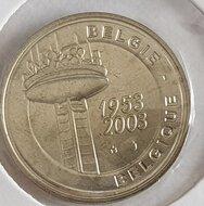 """België 2003 penning uit BU set """"50 jaar Televisie"""", BU"""