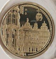 """België 2005 penning uit BU set """"Grote markt Brussel"""", BU"""