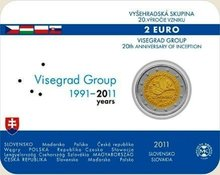 "Slowakije 2 euro 2011 ""Visegrad Group EU"", BU in coincard"