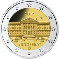 "Duitsland 2 Euro 2019 ""Bundesrat"", UNC letterkeuze"