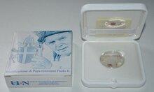 """Vaticaanstad 5 euro 2011 """"Zaligverklaring Paus Johannes Paulus"""", Proof met COA in doosje"""