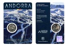 "Andorra 2 Euro 2019 ""WK Skieën"", in coincard"