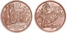 """Oostenrijk 10 euro 2019 """"Ritterlichkeit"""", UNC"""