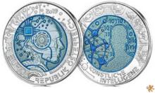 """NU OP VOORRAAD: Oostenrijk 25 euro 2019 Niob """"Kunstmatige Intellegentie"""", BU"""